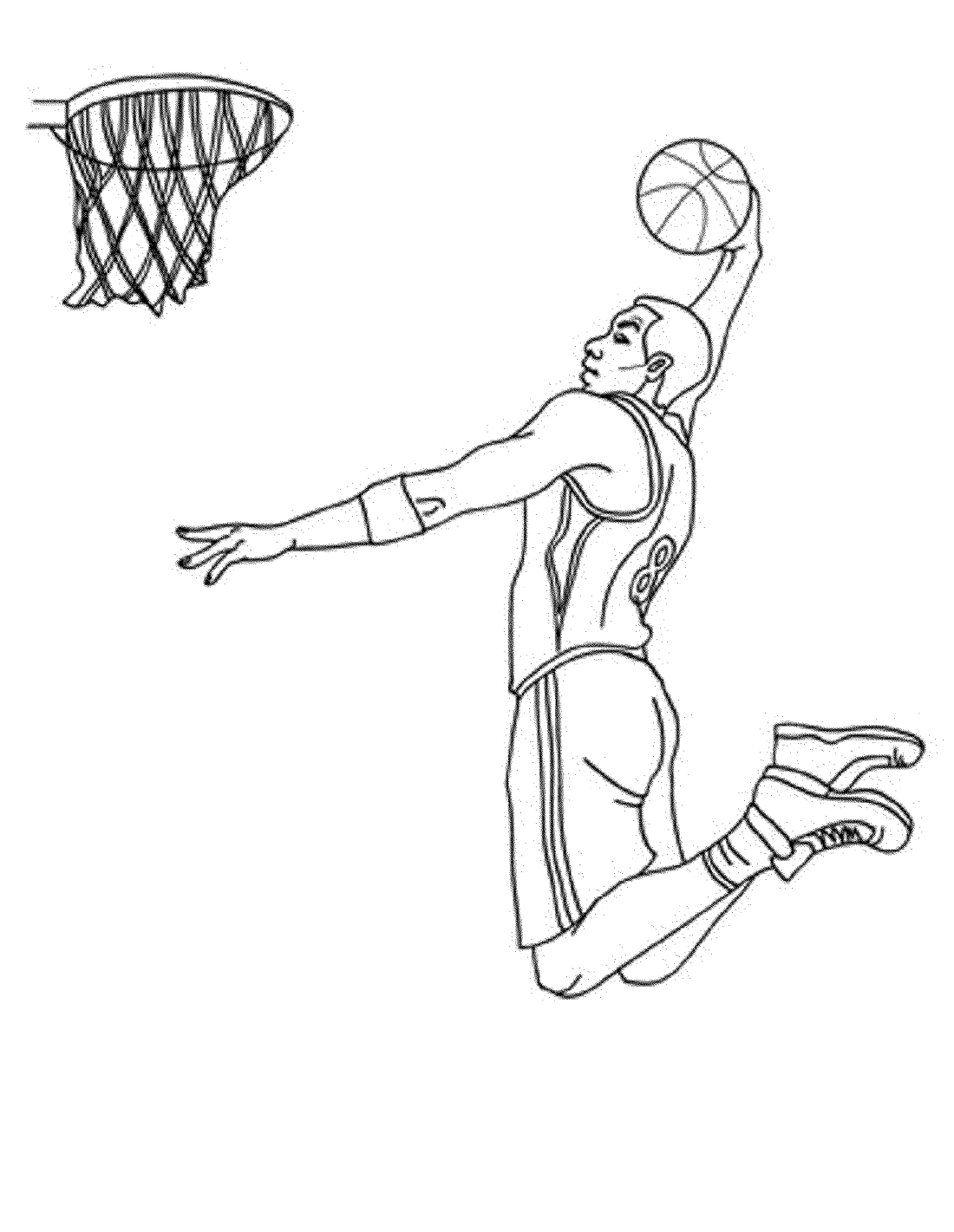 basketball color pages free