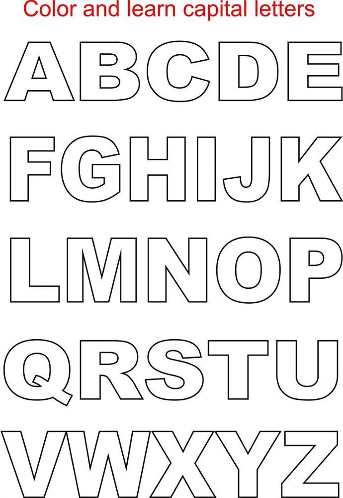 capital letter worksheet coloring