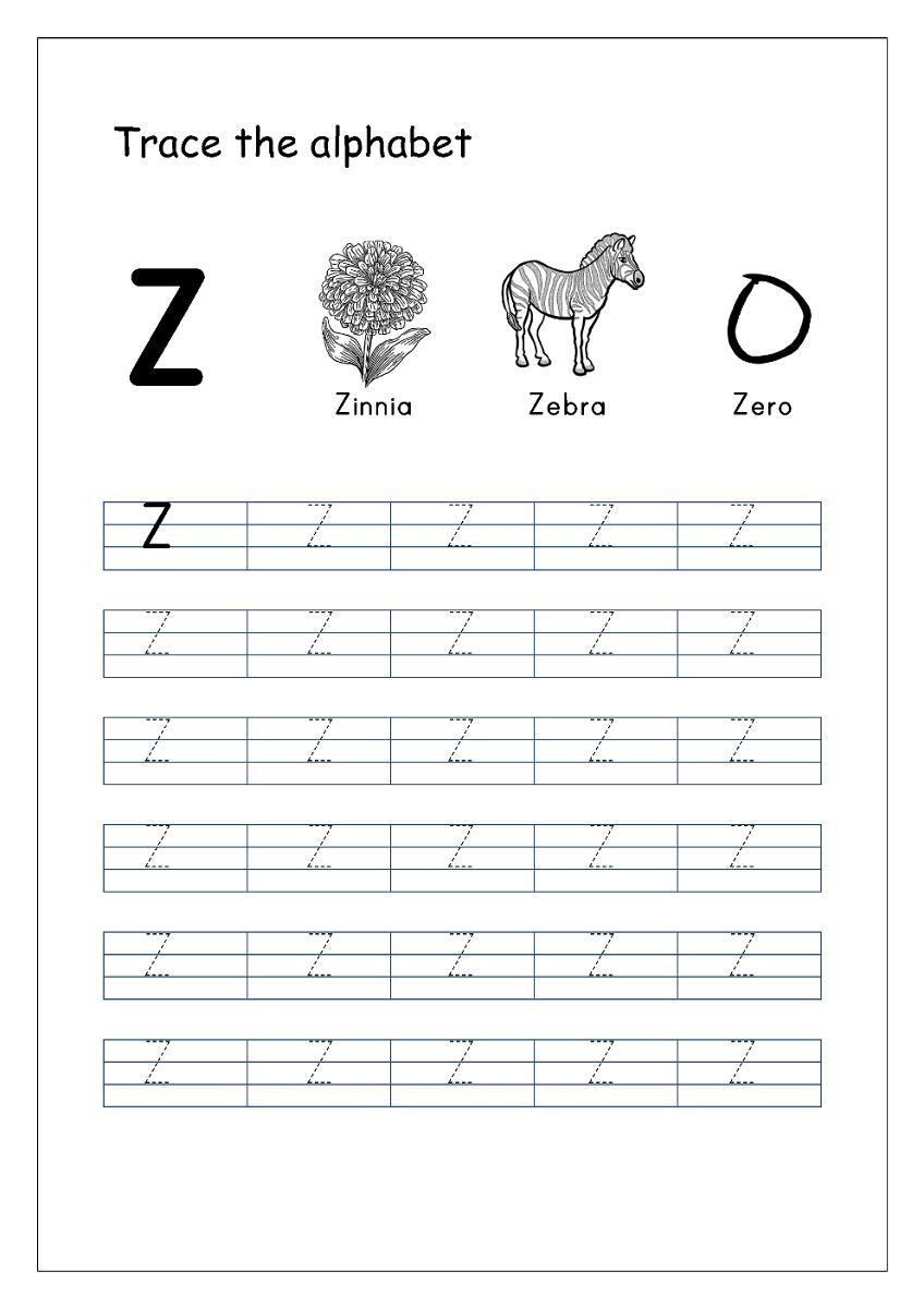capital letter worksheet letter z