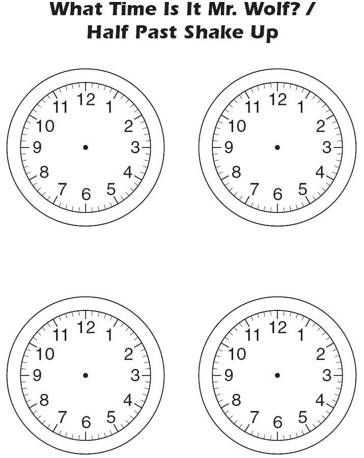 clock face template black