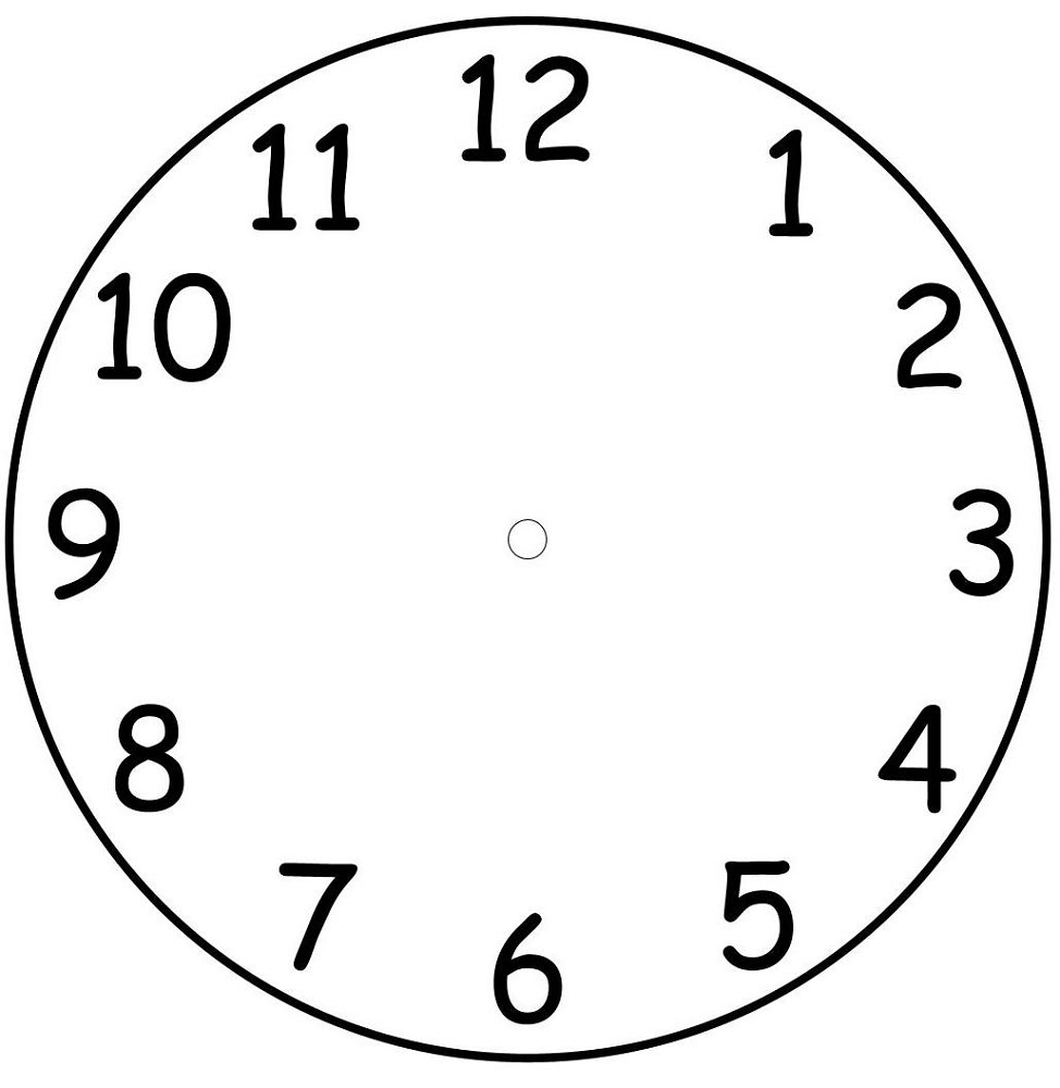 clock face template easy