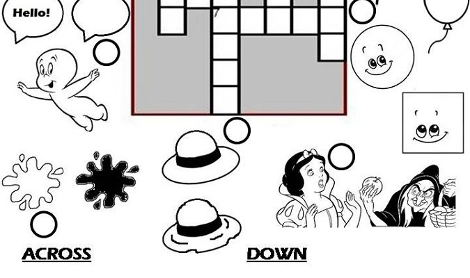 crossword puzzles for children opposites