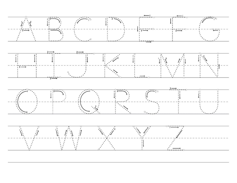 free traceable alphabet preschool