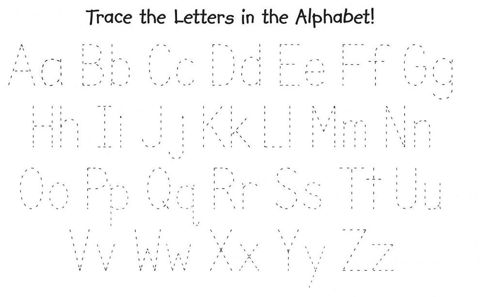 free traceable alphabet printout