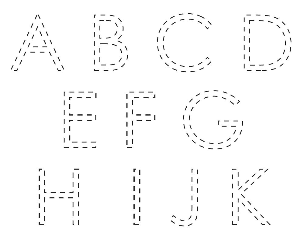 free traceable alphabet worksheet