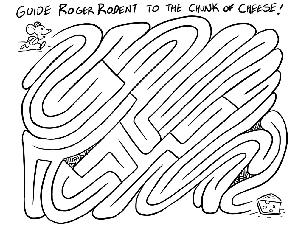 fun mazes for kids cheese
