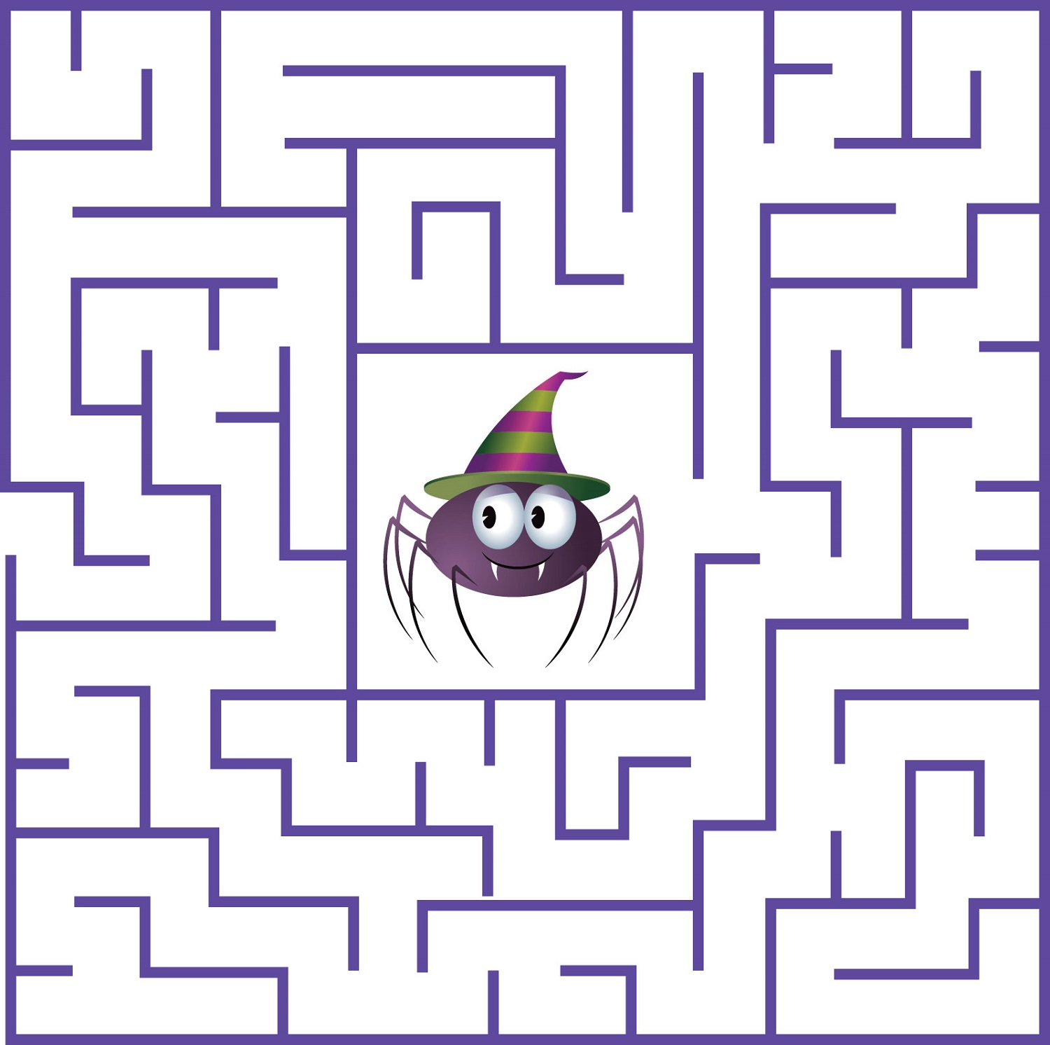 fun mazes for kids spider