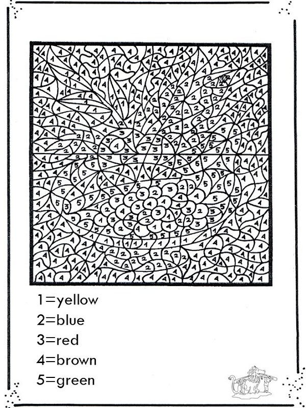 hard color by number worksheets free
