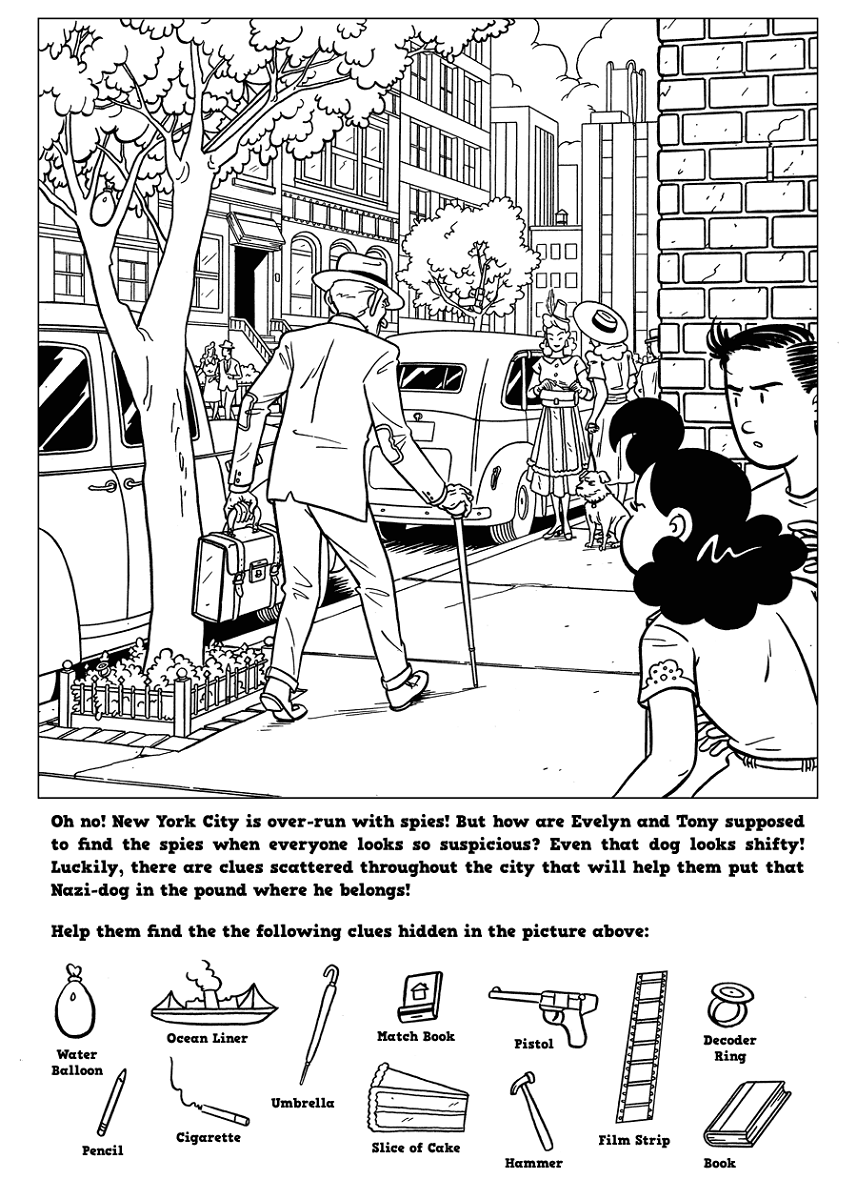 hidden picture worksheets city