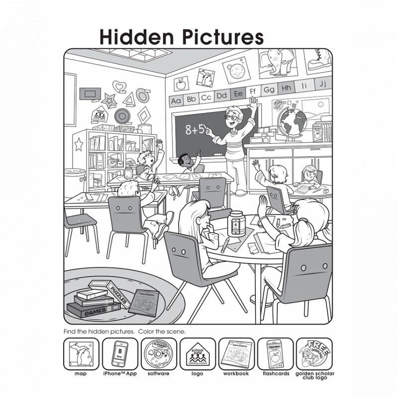 hidden picture worksheets class