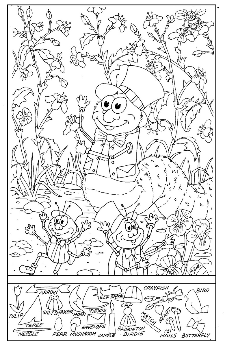 hidden picture worksheets free