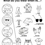 kids activity worksheets clothes