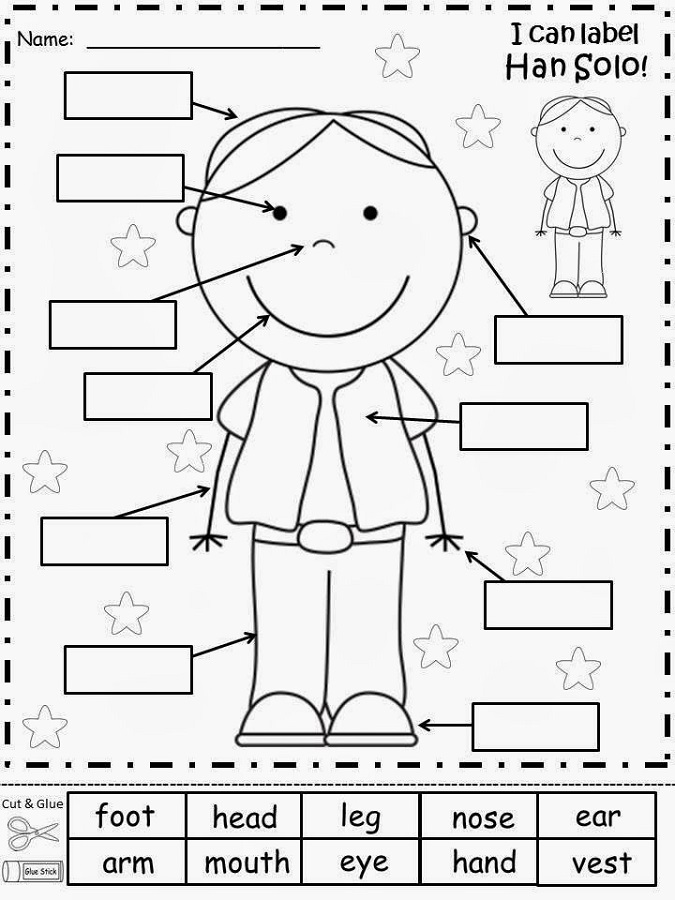 kids activity worksheets label