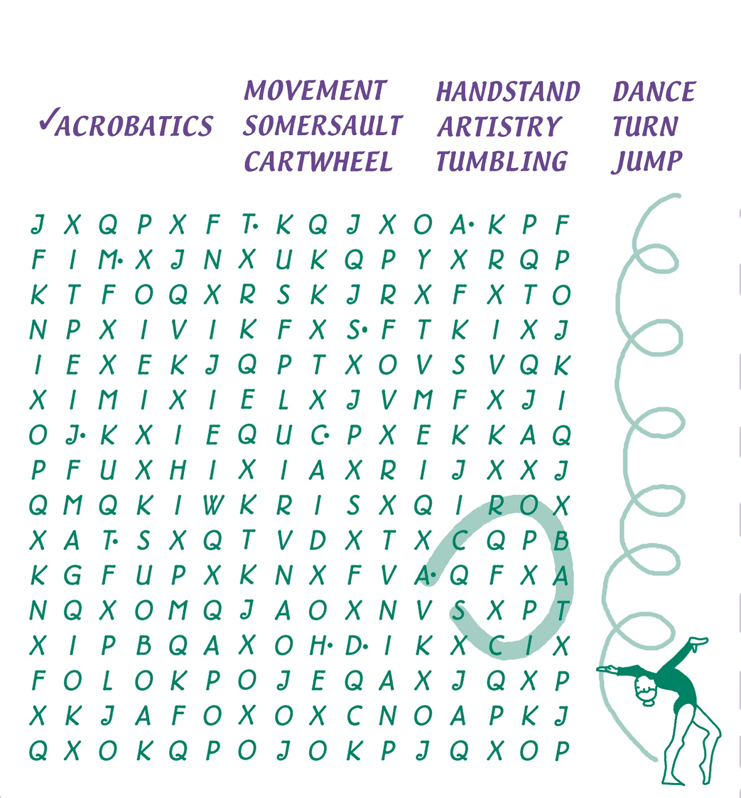 kids word search puzzles exercise