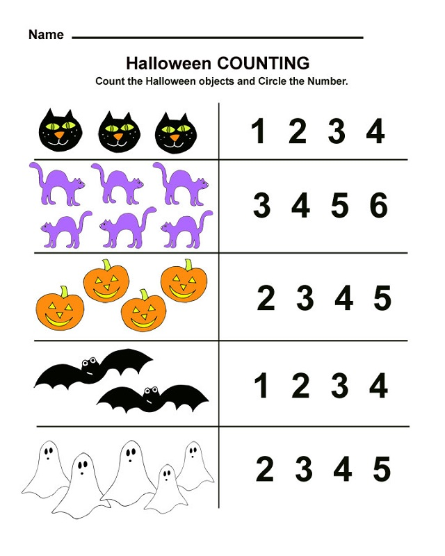 math worksheet fun halloween