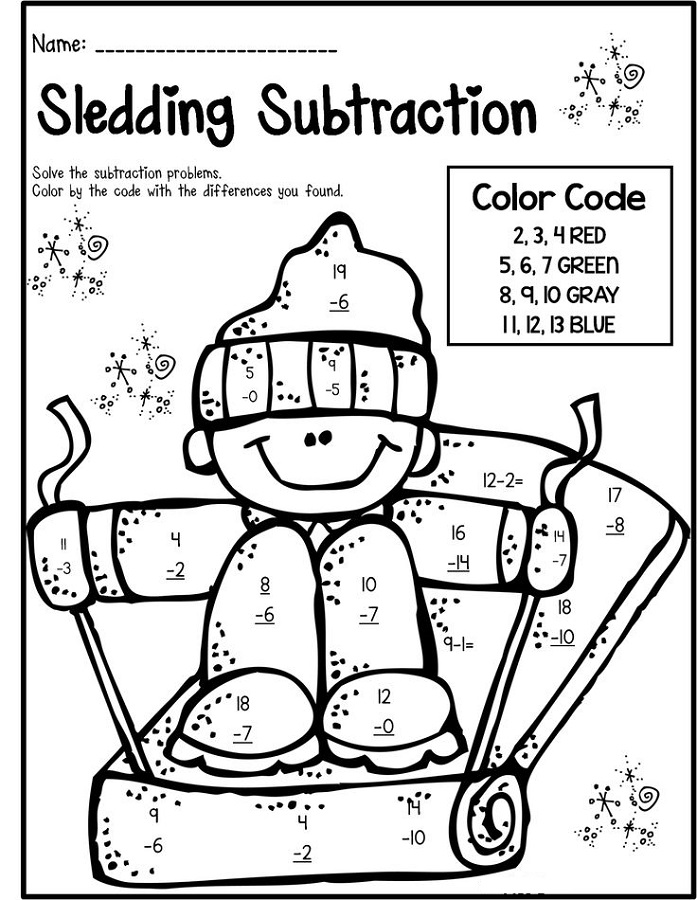 math worksheet fun subtraction