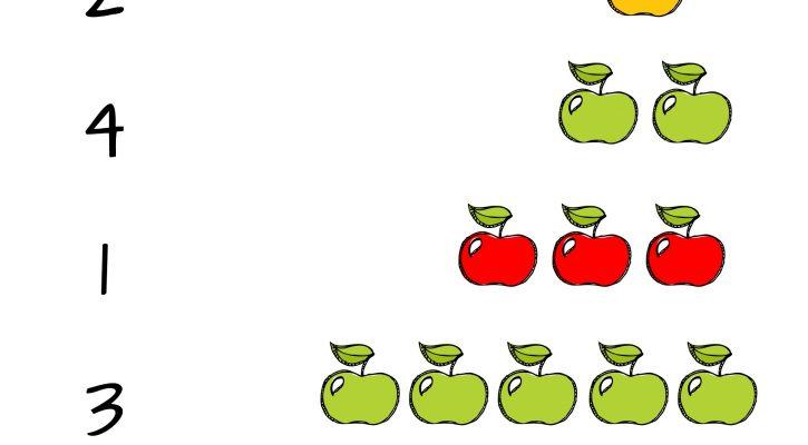 pre k number worksheets apple