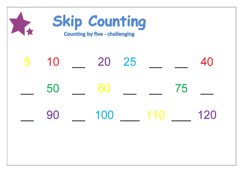 skip count by 5 free