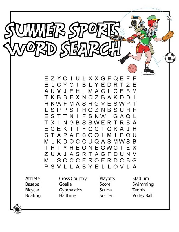 sports word search free