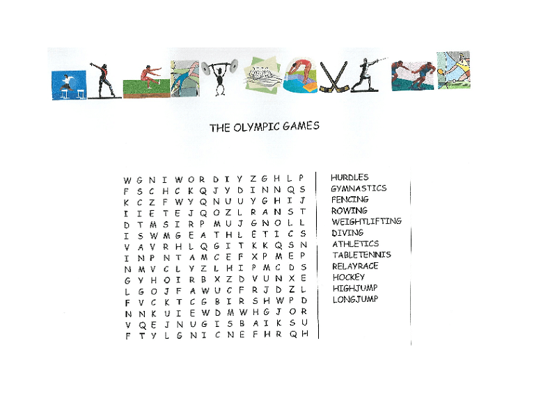 sports word search olympic