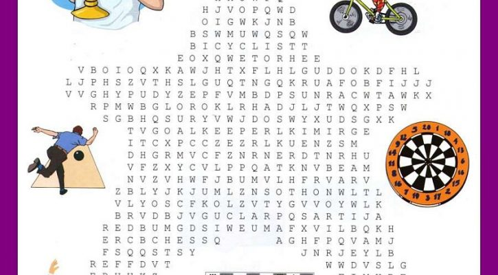sports word search simple