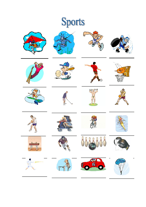 sports worksheets for kids free