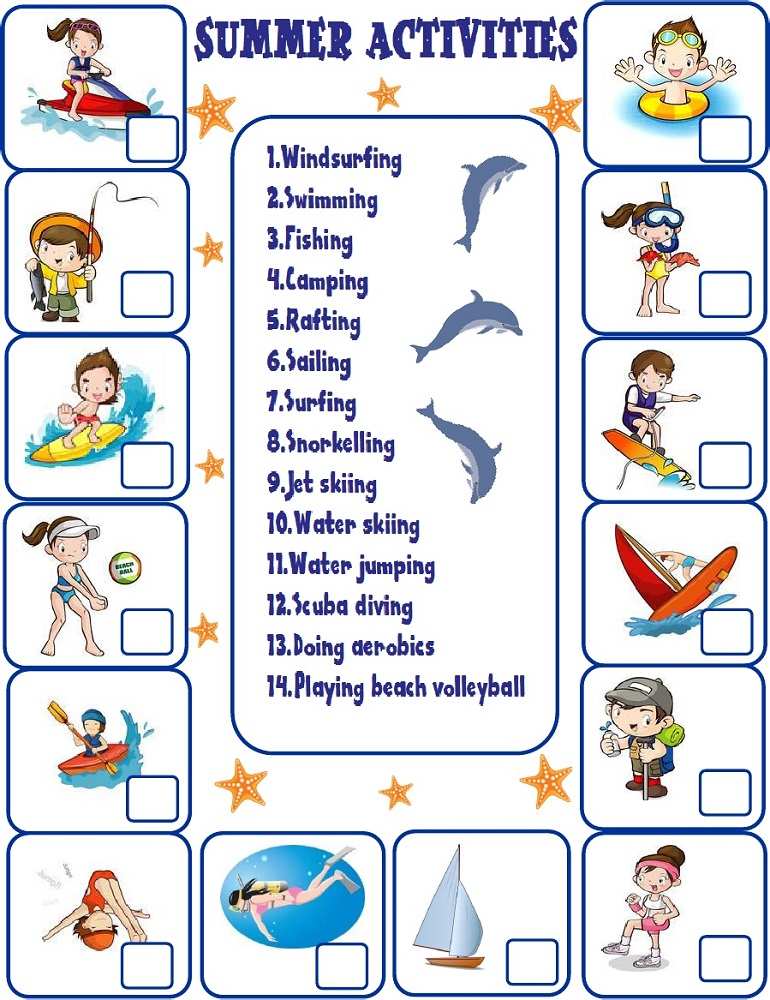 sports worksheets for kids summer