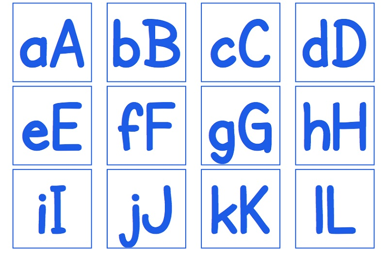uppercase and lowercase letters for kids