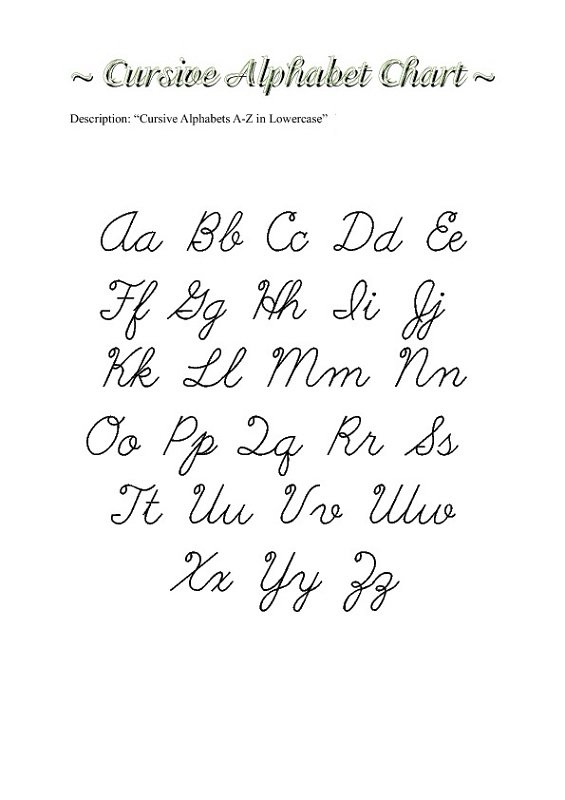uppercase and lowercase letters to print
