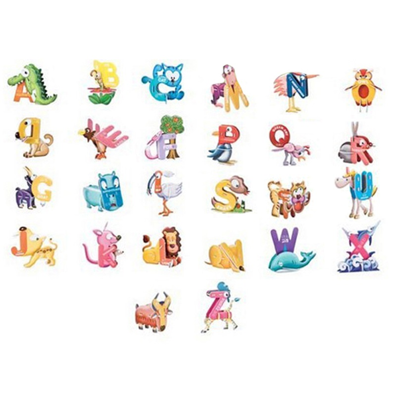 animal shaped letters chart