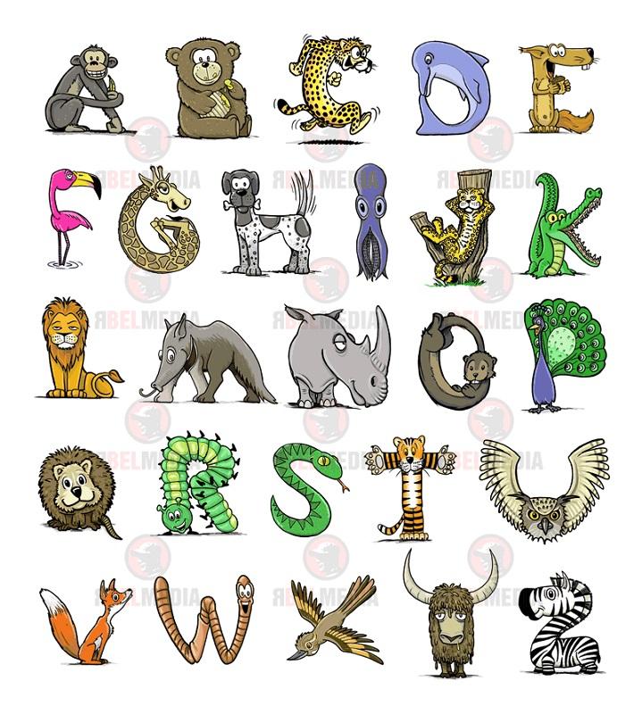 animal shaped letters free