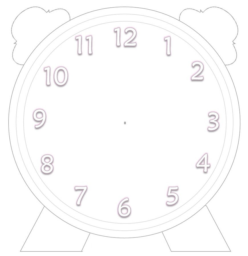 blank clock template for students