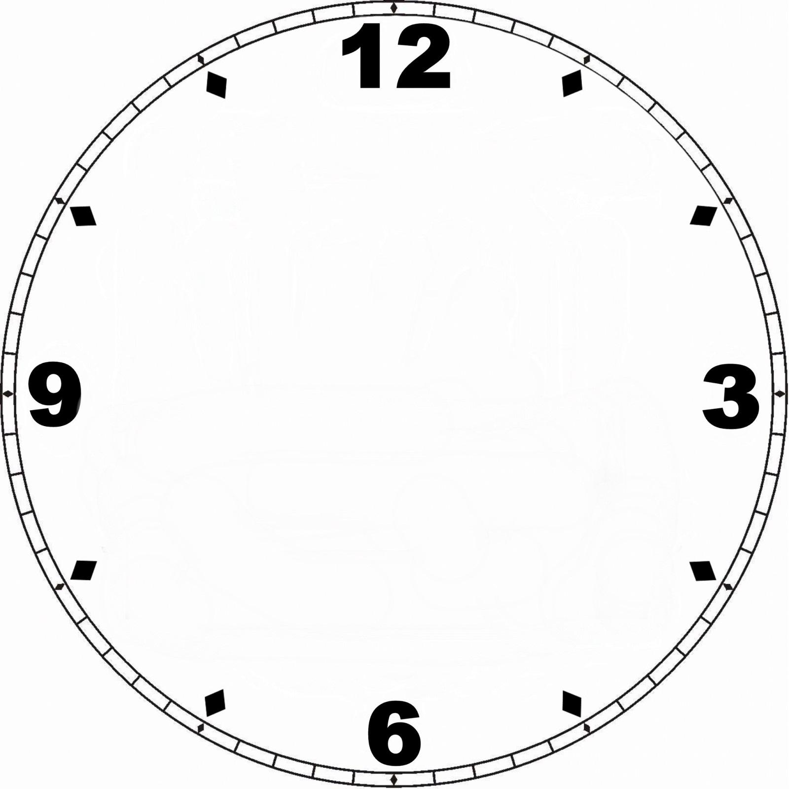 blank clock template free