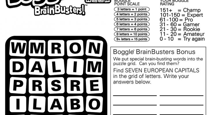 printable boggle | K5 Worksheets