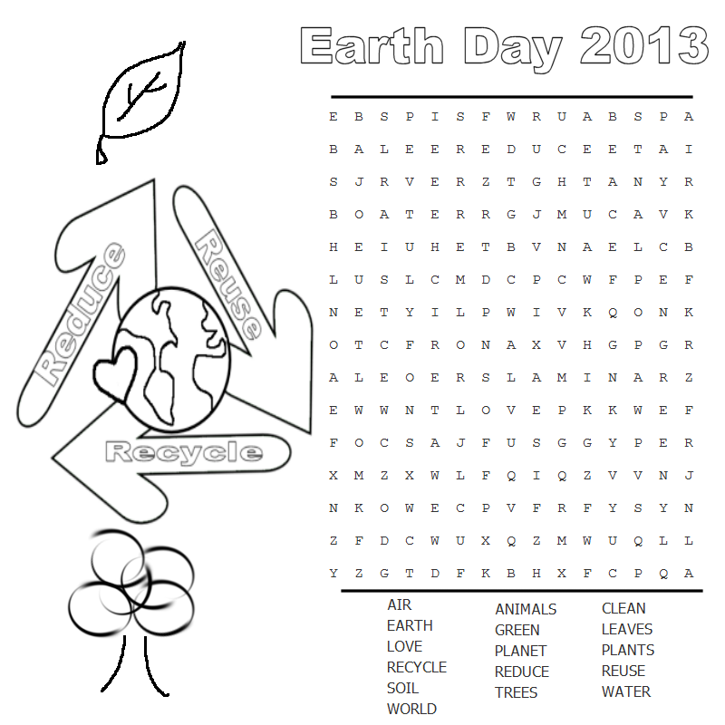 children word search earth