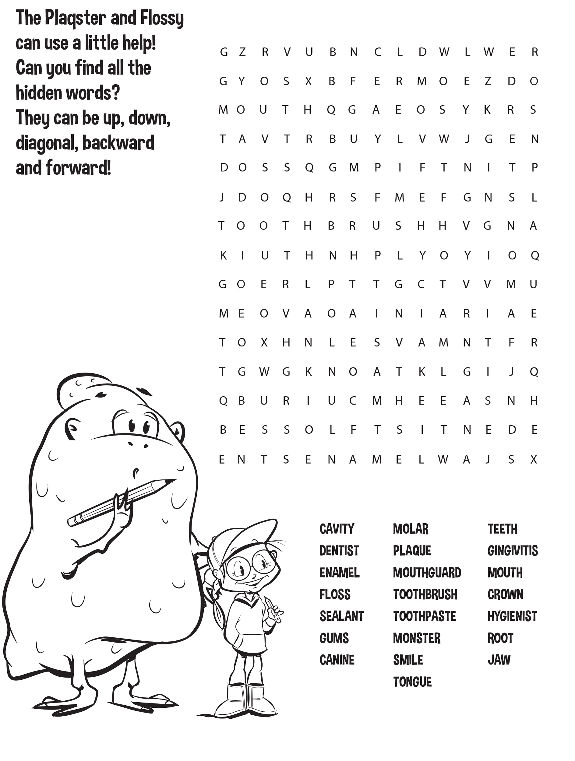 children word search printable
