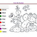 color by numbers worksheets free