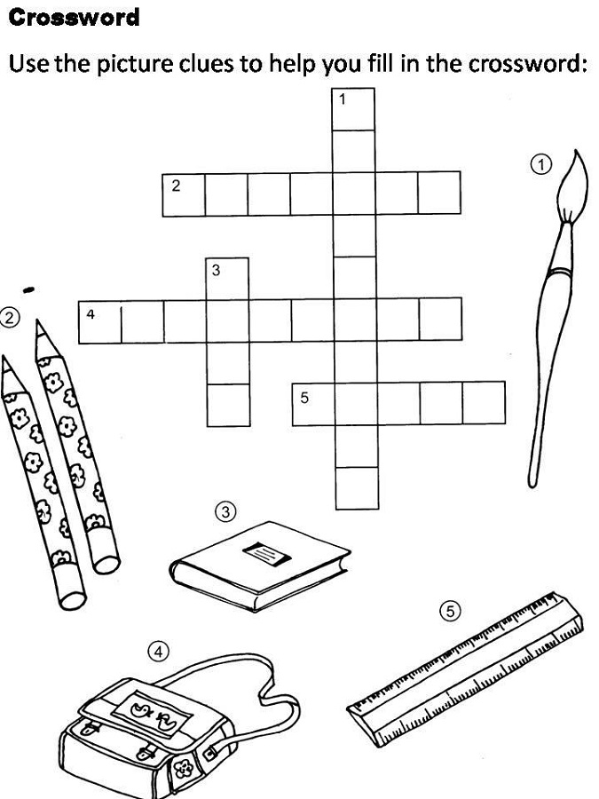 crosswords for kids art
