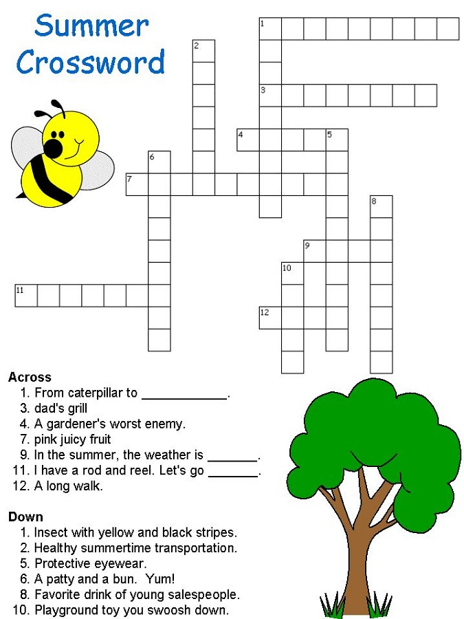 crosswords for kids summer
