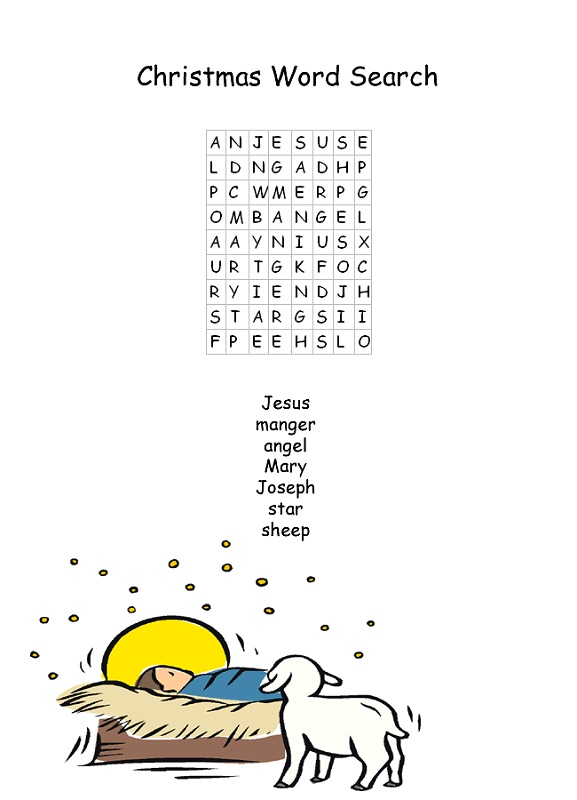 easy word searches christmas