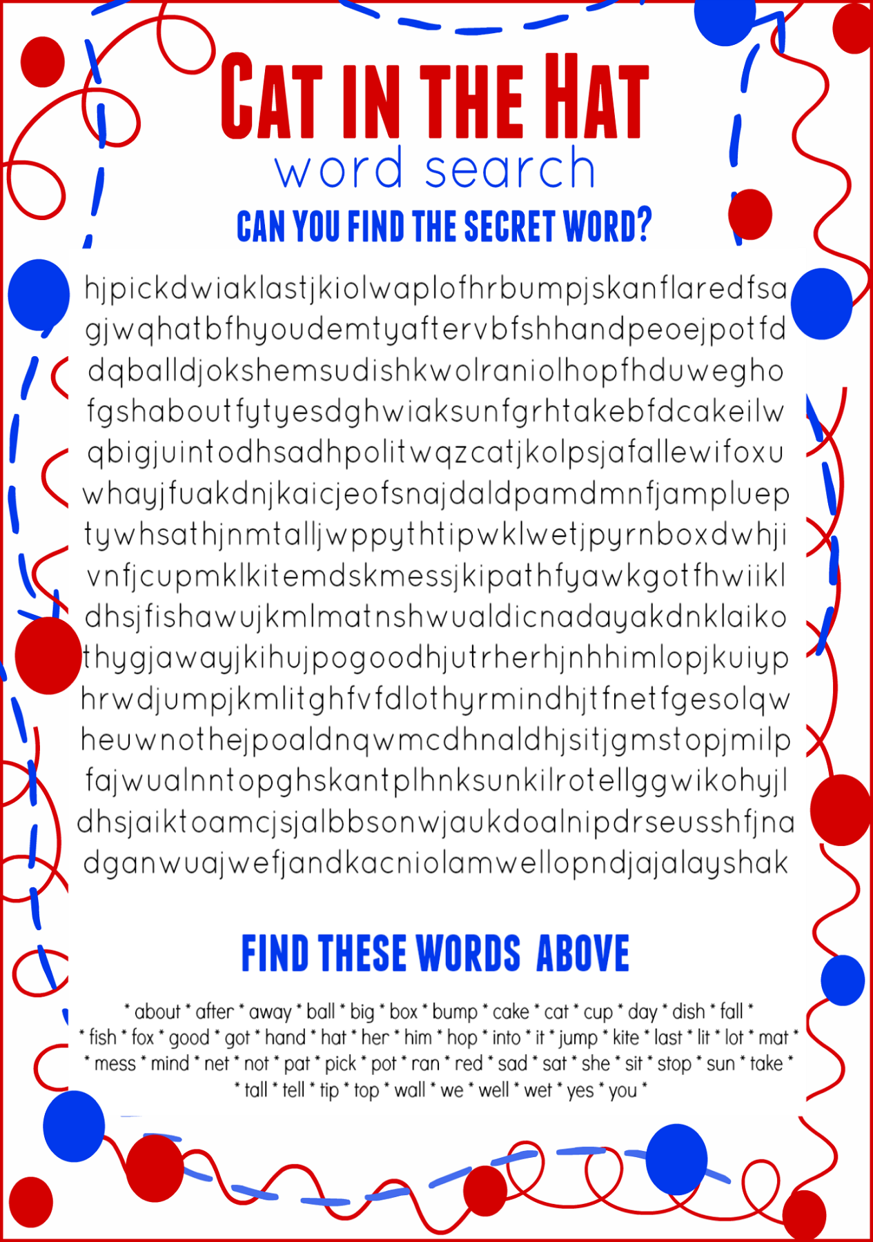 free word search worksheets for children