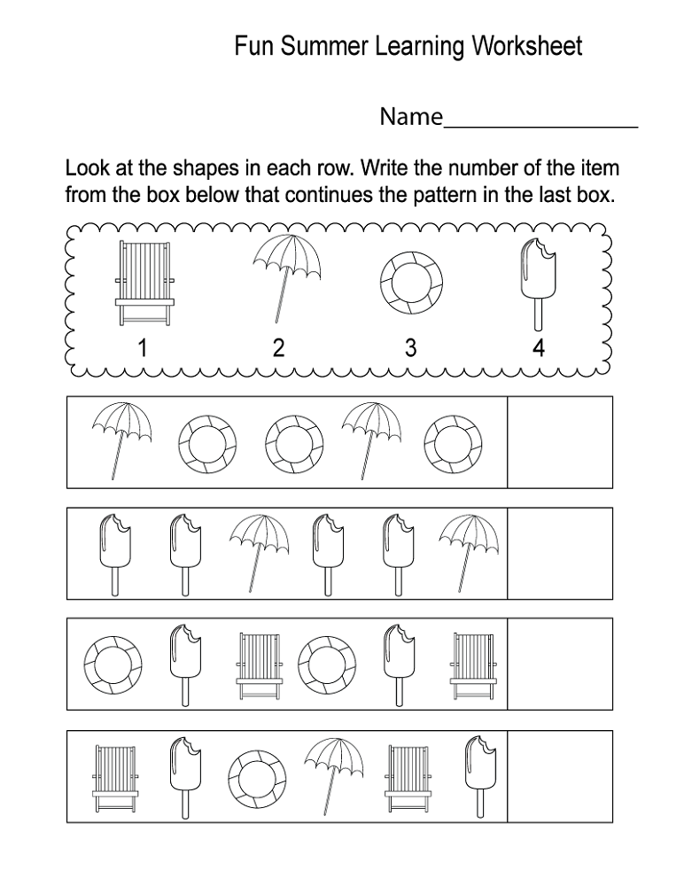fun activity worksheets for kids summer