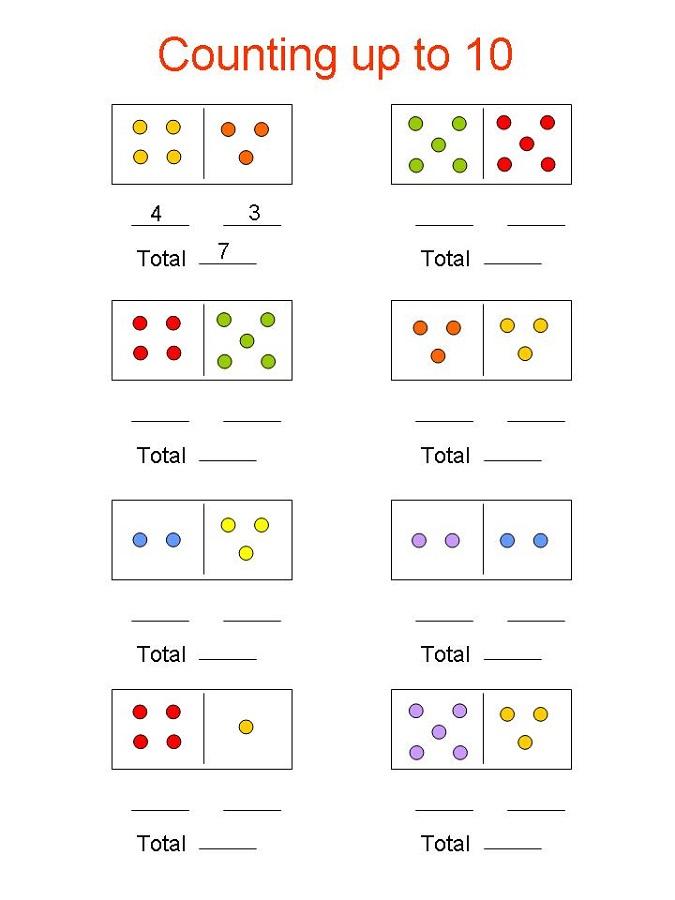 fun math sheets domino