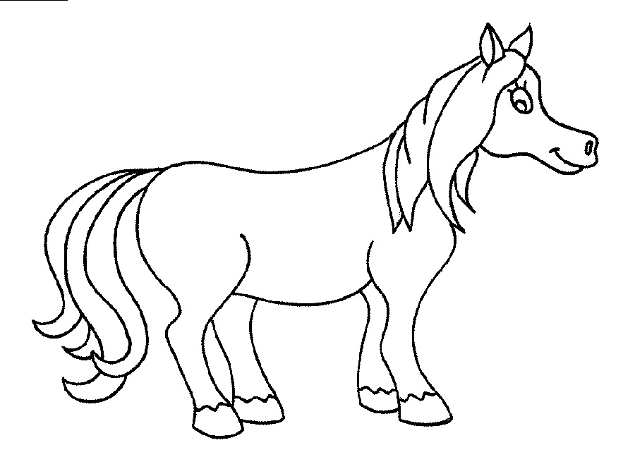 horse color sheets for children