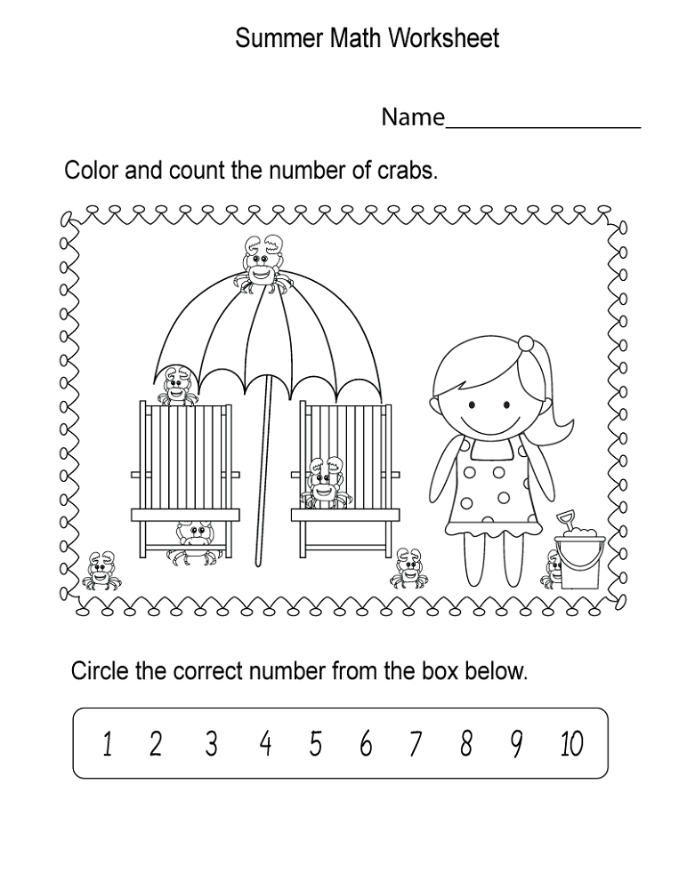 math worksheets fun crab
