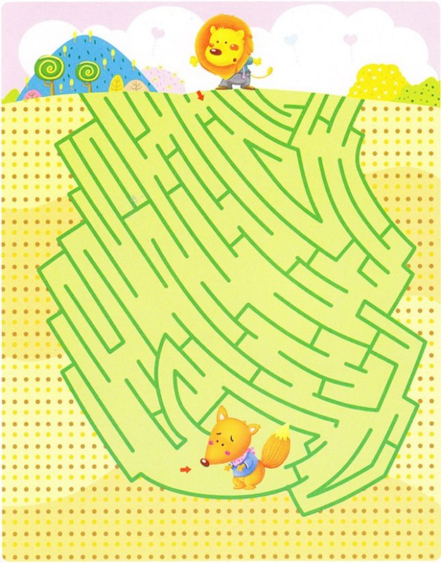 maze puzzles for kids colorful