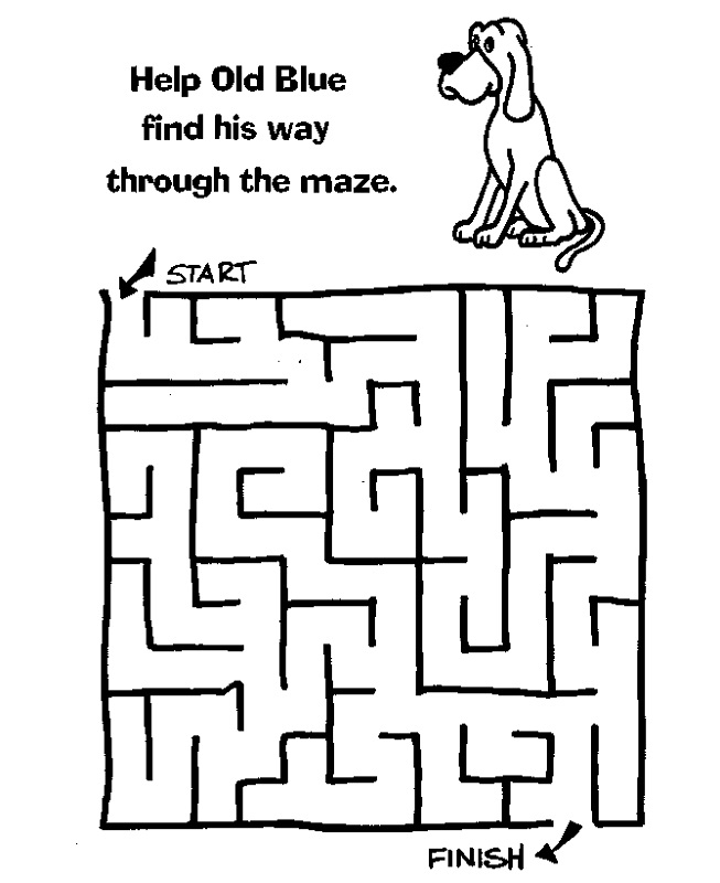 maze puzzles for kids dog