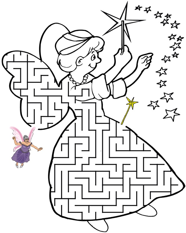 maze puzzles for kids fairy