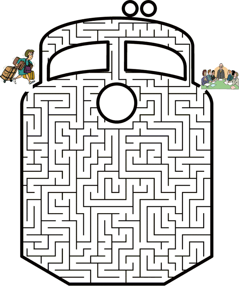 maze puzzles for kids train