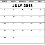 monthly 2018 calendar printable july